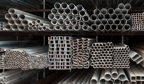 Fotomural Metal pipe stack