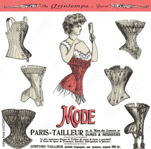 Obraz na płótnie les corsets de Paris