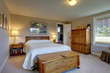 Cozy bedroom with white bedding