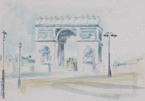 Recess Fitting Illustration Paris champ Elysée