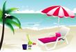paradise beach vector illustration