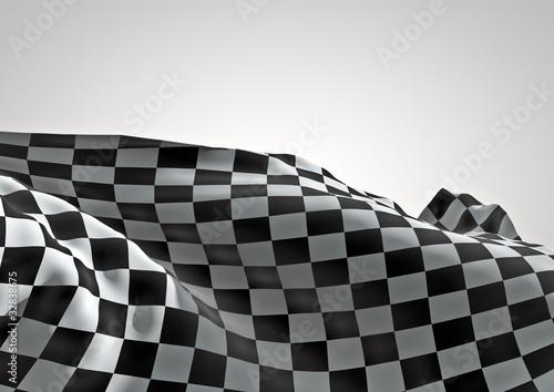 Foto op Plexiglas F1 3D checkered flag