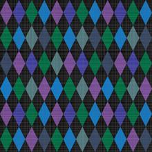 Seamless Harlequin Pattern Bac...