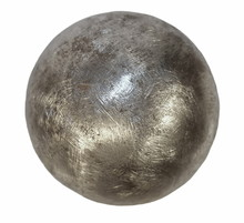 Iron Metal Ball Isolated On Wh...