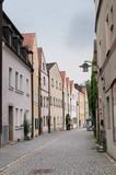 Fototapeta Uliczki - Bavarian colorful houses, narrow street, Germany