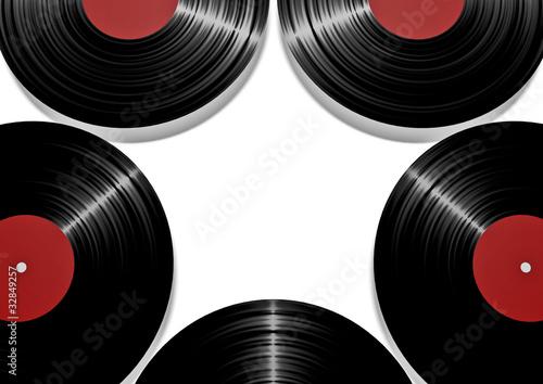 Sticker - vinyl record star