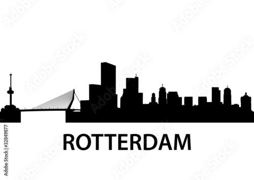 Staande foto Rotterdam Skyline Rotterdam