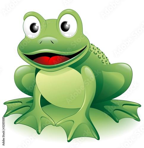 Rana Ranocchio Cartoon-Frog-Vector Wallpaper Mural