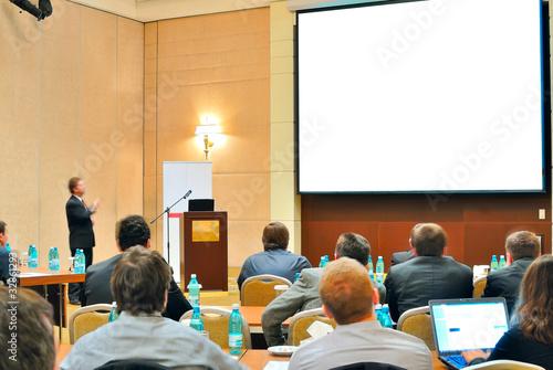 Fotografía  conference, presentation in aditorium