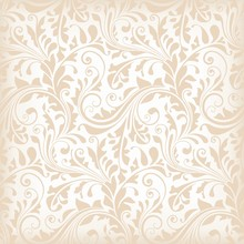 Seamless Pattern With Floral   Elements, Wallpaper