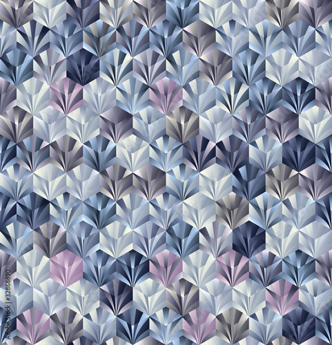 3d geometric seamless pattern.