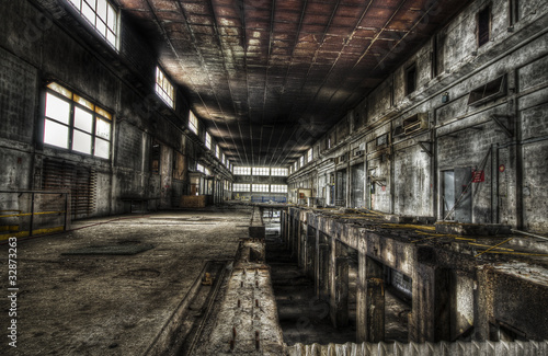 Photo Stands Old abandoned buildings Usine abandonnée