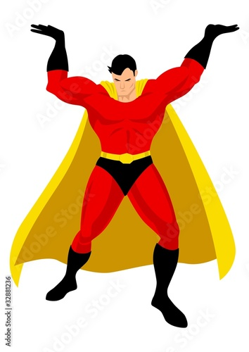 Poster Superheroes Superhero in Atlas pose