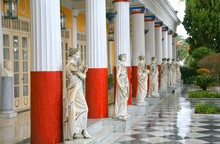 Classical Statues At The Achillion Palace, Corfu