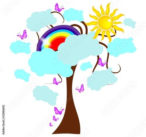 In de dag Regenboog Rainbow tree