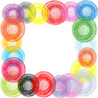 Abstract frame made of colored circles