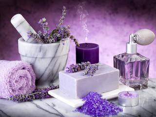Fototapetaspa lavender products