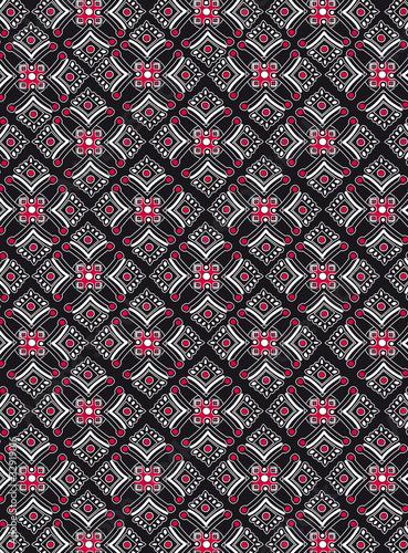 Blanc Rouge Noir Geometriques Motifs Papier Peint
