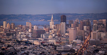 View Of Downtown San Francisco With The City Of Oakland Across T