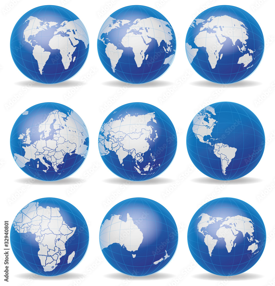 Globus Karte.Fotografie Obraz Weltkugel Weltkarte Landkarte Globus Karte
