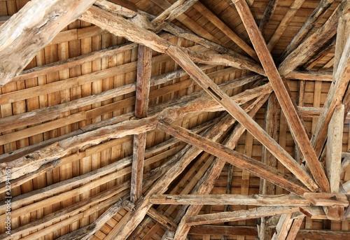 Obraz na plátne vieille charpente en bois