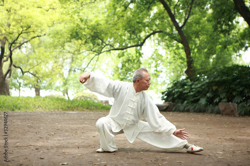 Fotografia  chinese do taichi outside