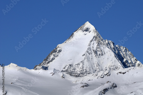 Gran Zebru' (Koenigspitze) mountain Canvas Print