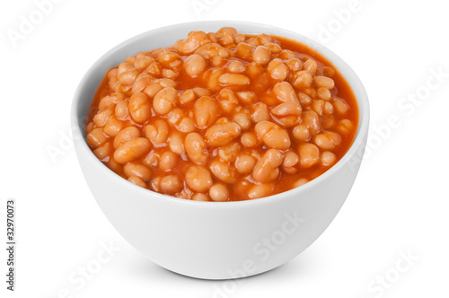 Photo  Baked beans portion