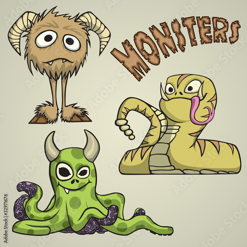 Tuinposter Schepselen Monsters