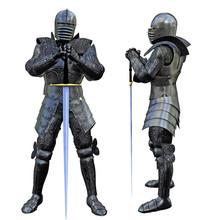 Knight Swordsman In Full Armou...