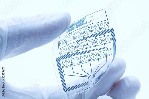 Fotografía  Flexible printed electric circuit