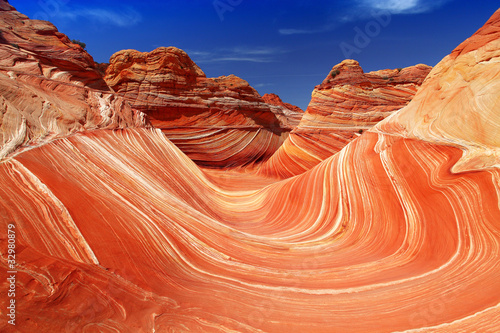 Spoed Foto op Canvas Koraal The Waves Canyon