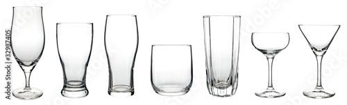 白背景に複数のグラス