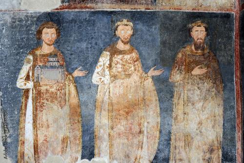 Fotografie, Obraz  King Stefan Radoslav, Stefan Vladislav and Stefan Prvovencani, f