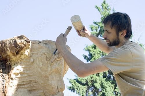 Fotografie, Obraz  sculptor