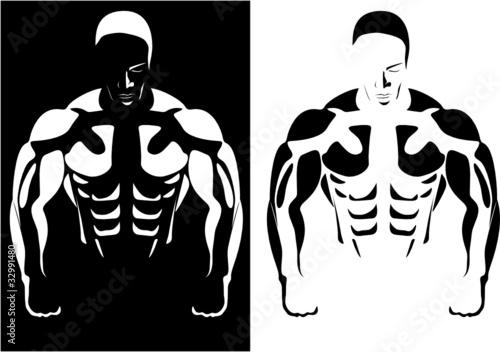 kontur-sportowca-na-czarno-bialym-tle-wektor