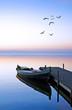 en el lago azul