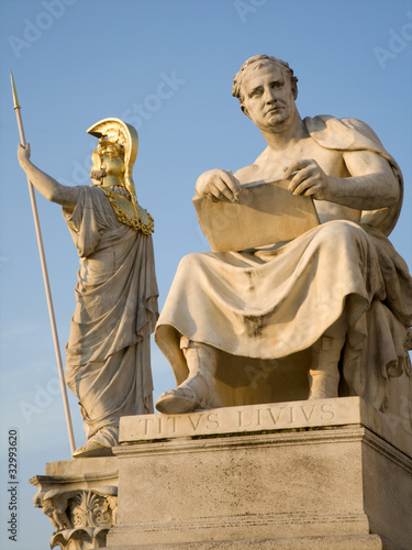 Vienna - historian titus livius statue for the Parliament Wallpaper Mural