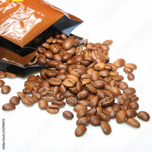 Door stickers Coffee beans Paquet de café en grains