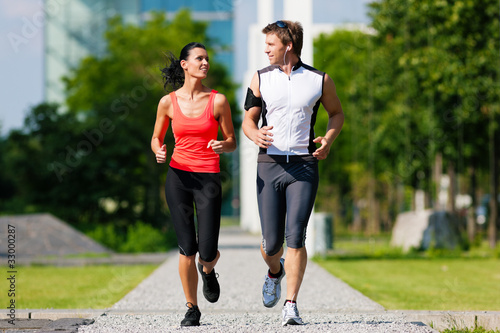Fotobehang Jogging Sport und Fitness in der Stadt