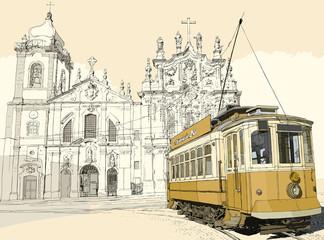 Fototapeta tramway in Porto