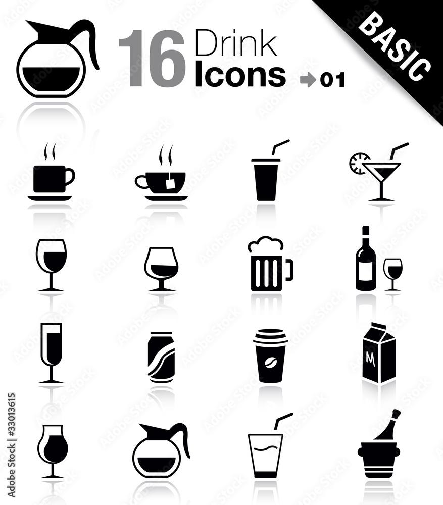 Fototapeta Basic - Drink Icons