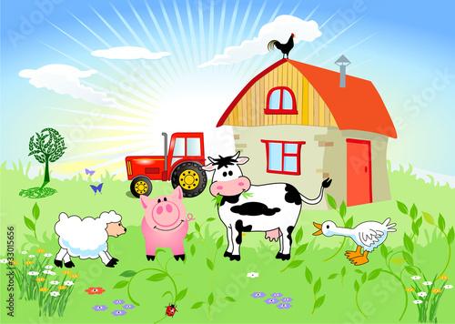 Wall Murals Ranch Bauernhof-Tiere