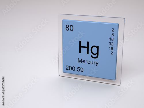 Mercury Symbol Hg Chemical Element Of The Periodic Table Buy