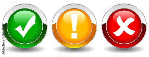 Fotografía  Vector security web buttons