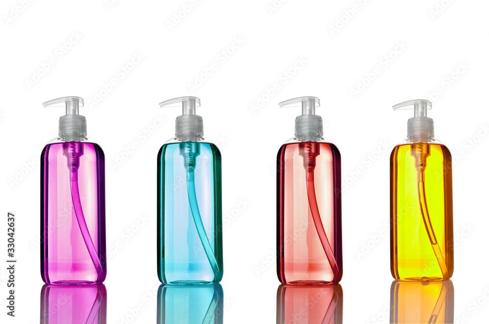 Fototapeta soap shampoo bottle beauty hygiene