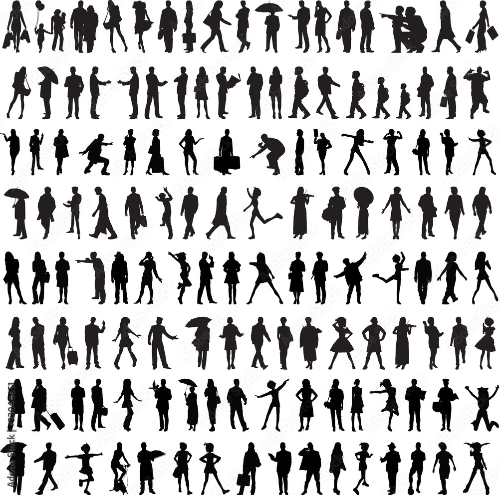 Fototapeta Common people silhouette
