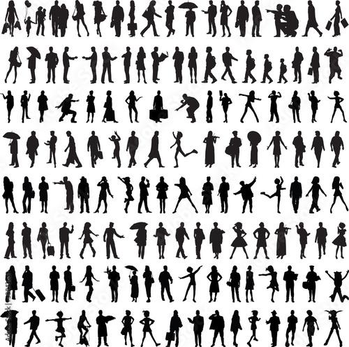 Fototapeta Common people silhouette obraz
