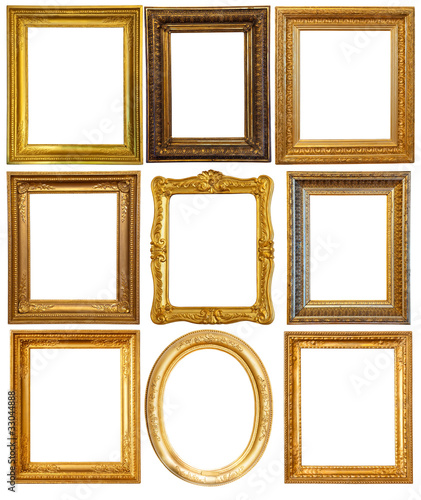 Luxury gilded frames - Buy this stock photo and explore similar ...