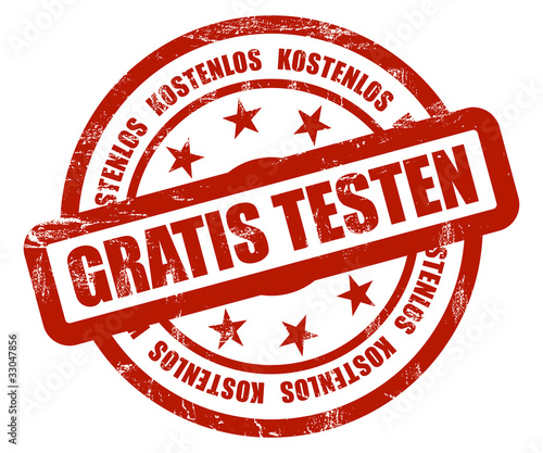 Sternen Stempel rot rt GRATIS TESTEN - Buy this stock illustration